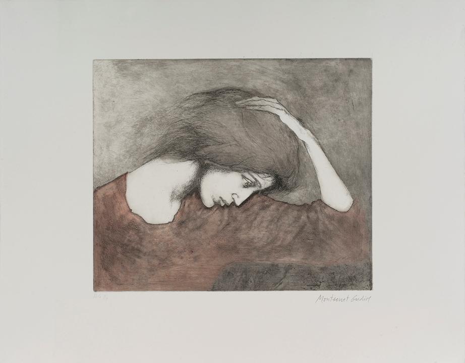 Gudiol  - Ref. 528 Dona amb la ma al cap