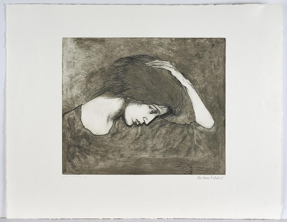 Gudiol  - Ref 506 Dona amb la ma al cap