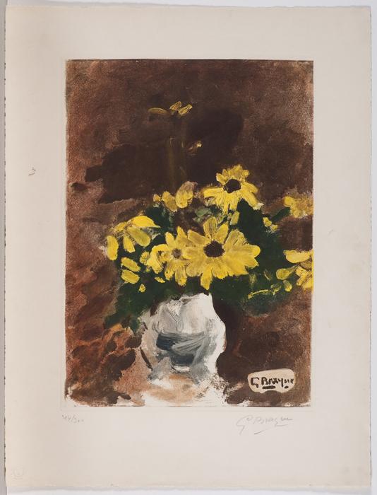 Ref 1300 Vase de fleurs jaunes