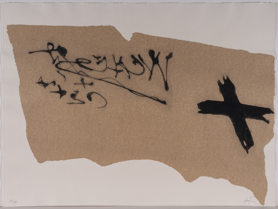 tapies on paper